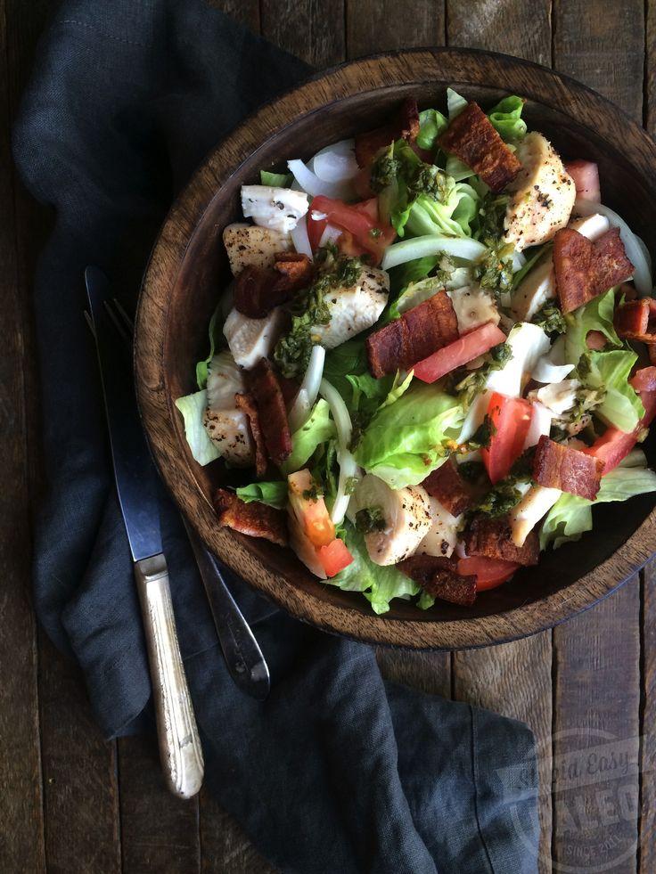 Paleo BLT Salad with Sweet Onion Vinaigrette