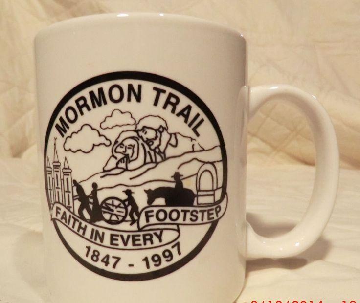 Mormon Trail Coffee Mug Cup 1847 1997 Utah Wyoming Nebraska