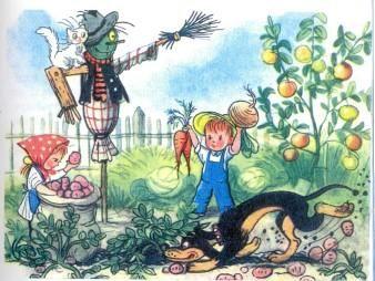 Рассказы. Времена года - Бабушкин огород (иллюстрации: Сутеев В.)