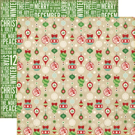 Echo Park - Reflections Collection - Christmas - 12 x 12 Double Sided Paper - Holiday Ornaments at Scrapbook.com