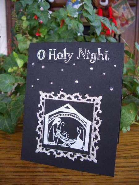 1000 images about card ideas christmas on pinterest for O holy night decorations