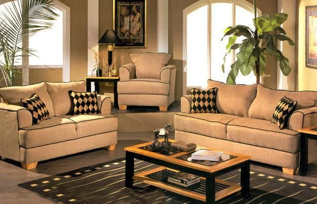 Set Of Beautiful Sofas And Armchair