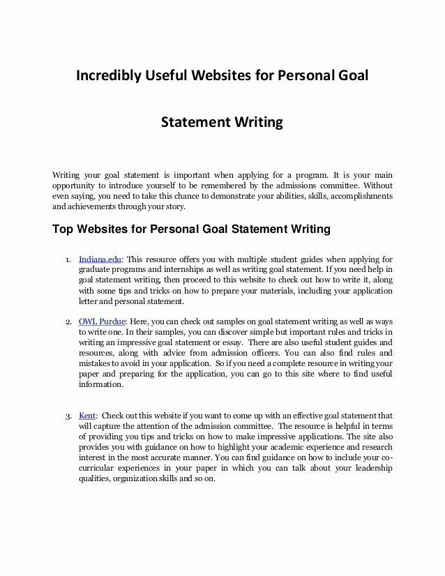 Personal Goal Statement Example Lovely Writing Reso Mission Examples What I A