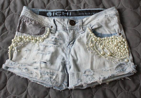 Pearl shorts by me :) http://diamond-nani.blogspot.fi/