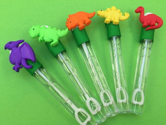 Dinosaur Bubble Favor Dinosaur Favor Party by MadHatterPartyBox