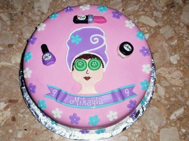 Fabulous Cake Picture Idea Spa Party With Images Spa Party Cakes Personalised Birthday Cards Xaembasilily Jamesorg