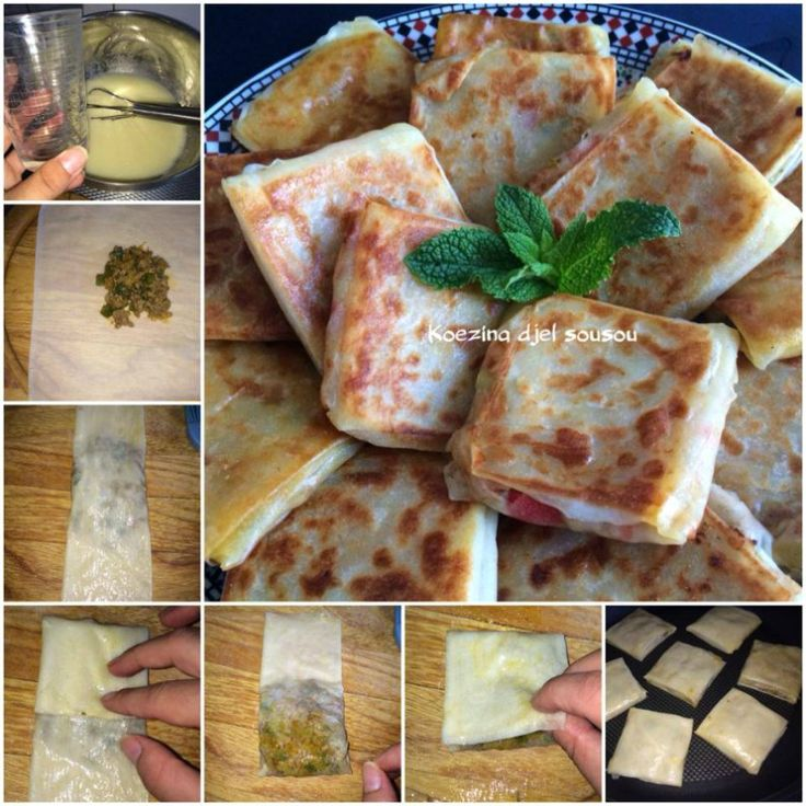 loempiapakketjes met tonijn, gehakt of kip