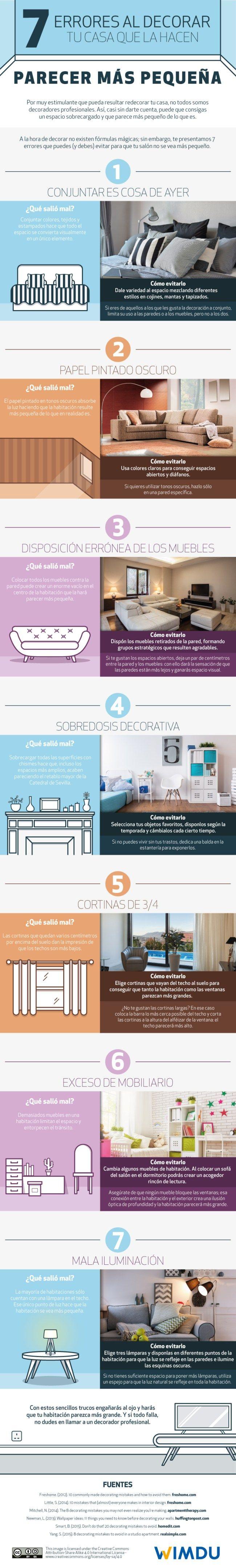 #DECORACIÓN Cómo hacer para que los espacios pequeños se vean más amplios http://www.organizartemagazine.com/decoracion-de-espacios-pequenos-trucos-para-que-parezcan-mas-grandes-infografia/