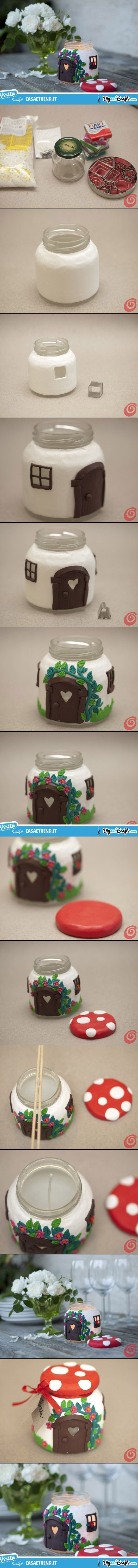 Glass Jar Mushroom – candle House | #DIY