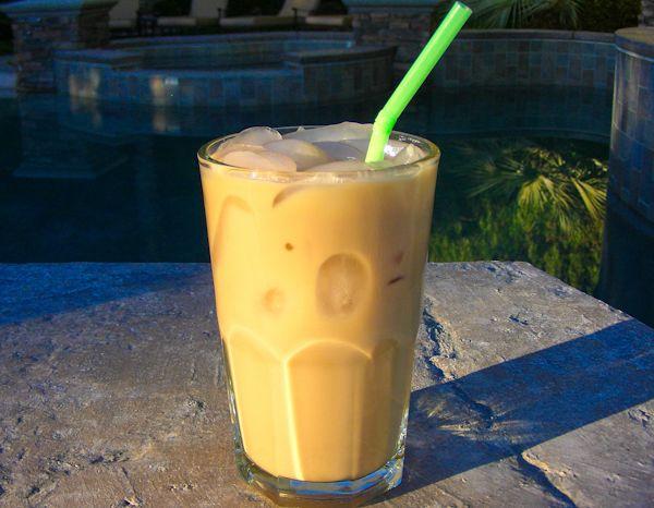 McDonald's Vanilla Iced Coffee (except use non-fat and sugar-free to prevent sugar coma)