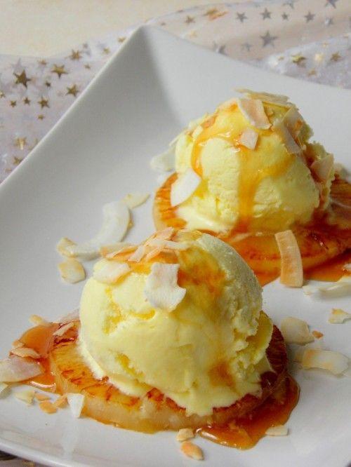 Grillezett ananász fagylalttal