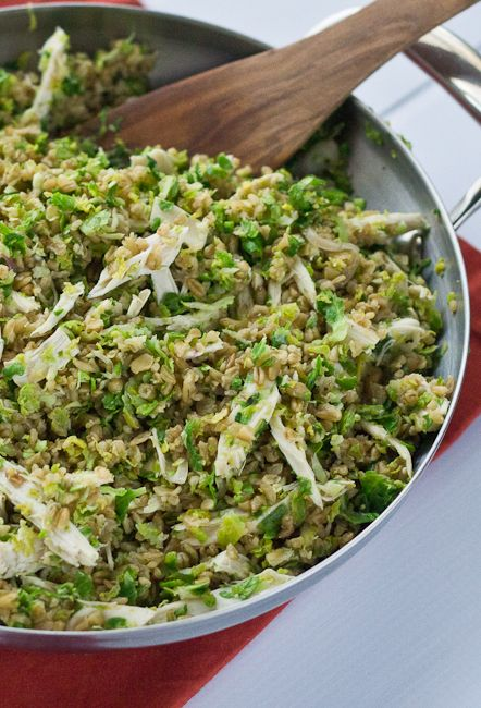 More Cluck for Your Buck: Freekeh with Chicken and Brussels Sprouts | stetted