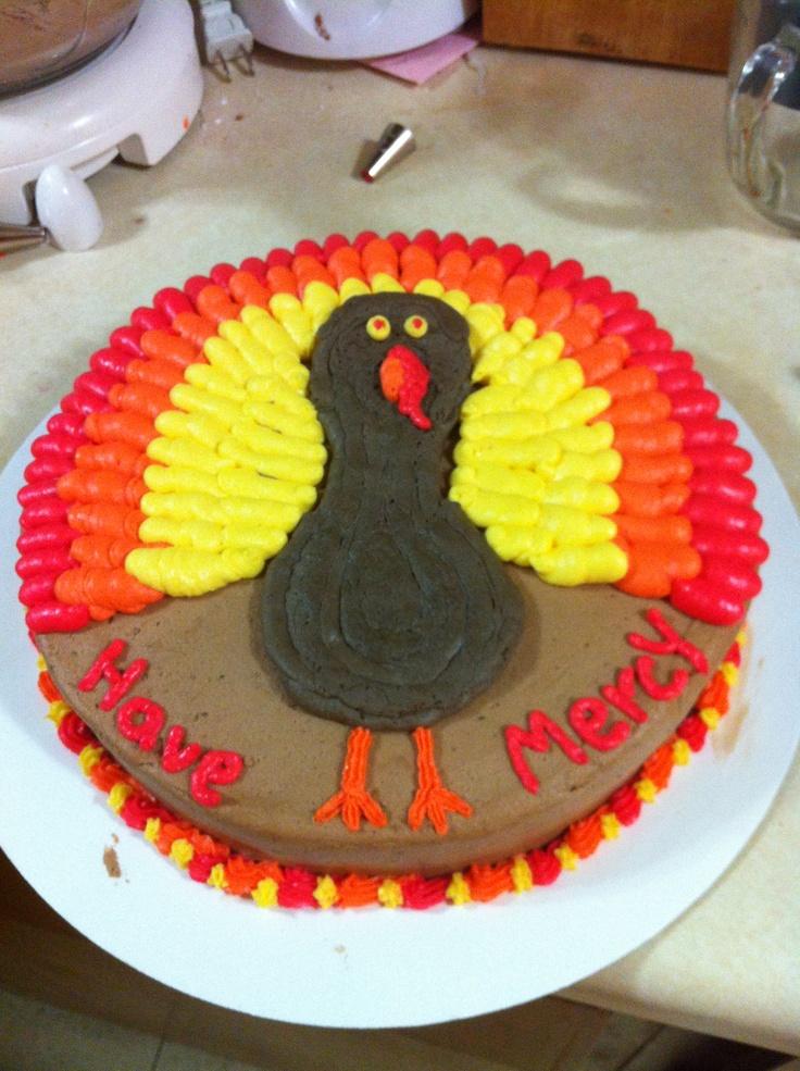 Turkey Hunting Cake Decorations : Turkey Cake my cakes Pinterest Turkey cake, Cake and ...