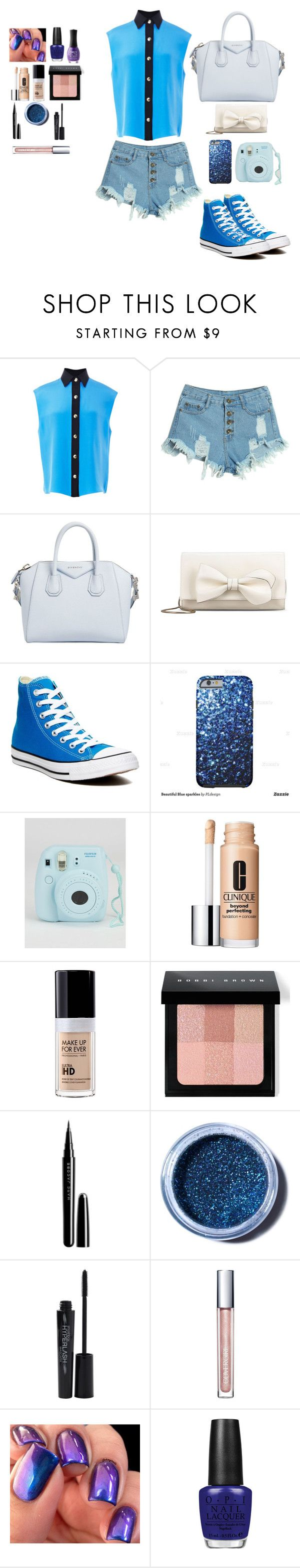"""""""Everyday 17"""" by lonewolfx ❤ liked on Polyvore featuring FAUSTO PUGLISI, WithChic, Givenchy, RED Valentino, Converse, Clinique, MAKE UP FOR EVER, Bobbi Brown Cosmetics, Marc Jacobs and Lime Crime"""
