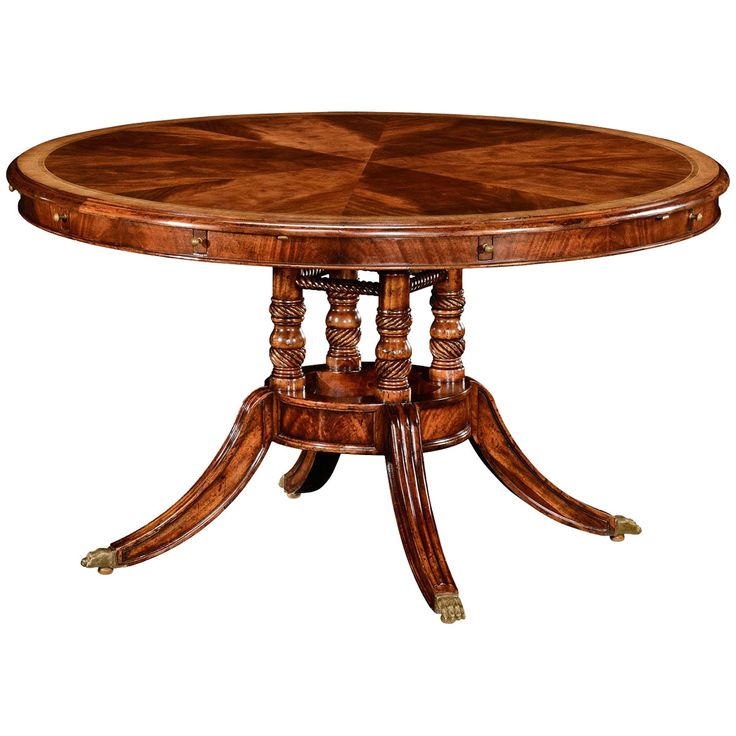 "Jonathan Charles Buckingham 53"" Mahogany Dining Table"