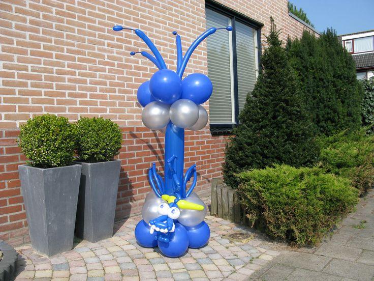Draak voor Piratenfeestje. www.verpaktelucht.nl