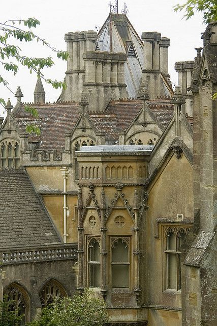 Tyntesfield House --Victorian Gothic Revival house and estate near Wraxall, North Somerset, England. The house is a Grade I listed building. The house is named after the Tynte baronets, who had owned estates in the area since about 1500.