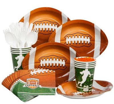 themed baby shower football baby shower tableware decorations