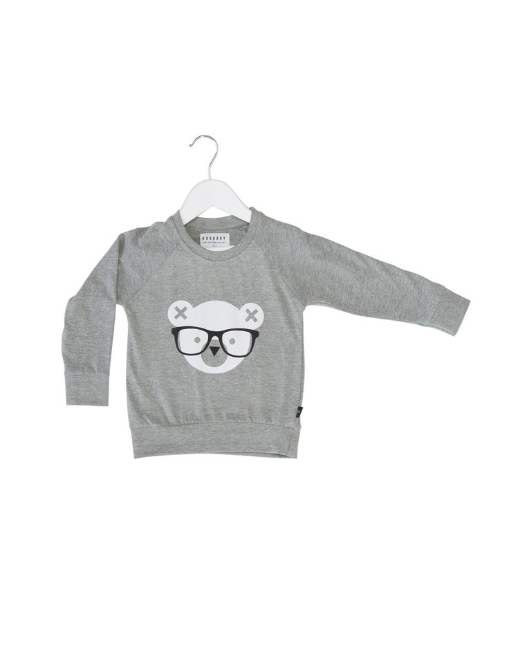Nerd Bear Light Sweatshirt | David Jones