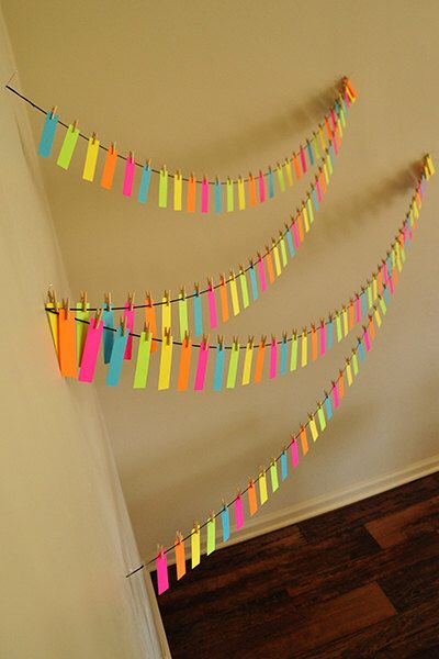 Neon Party Decor - Neon Garland - Neon Party Decorations by courtneyorillion on Etsy https://www.etsy.com/listing/182697939/neon-party-decor-neon-garland-neon-party