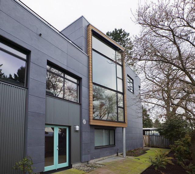 Fiber Cement Panels Exterior Industrial With Cedar Siding