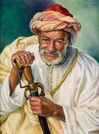 Louis John Endres (1896-1989)_Marocain à la mimcha