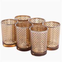 gold laser home deco mercury glass votives wholesale