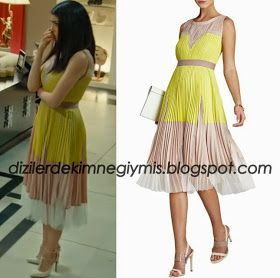 Medcezir - Eylül (Hazar Ergüçlü), BCBG Yellow Dress