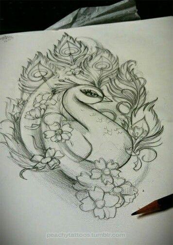 Peacock - pencil drawing