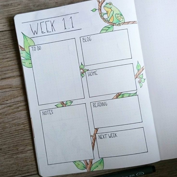 First half of weekly spread