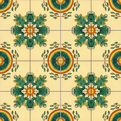 Hand painted tiles of Caltagirone by CEAR Ceramiche Azzaro & Romano Srl