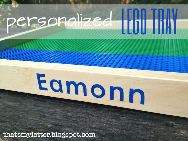 """That's My Letter: """"L"""" is for Lego Tray #4, personalized lego trays"""