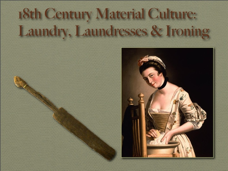Colection of images from 18th century of laundry