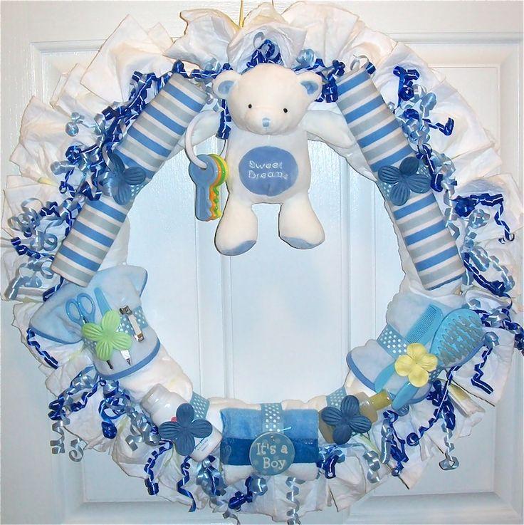 Diaper Wreaths Boy Diaper Wreaths Boy Diaper Wreath