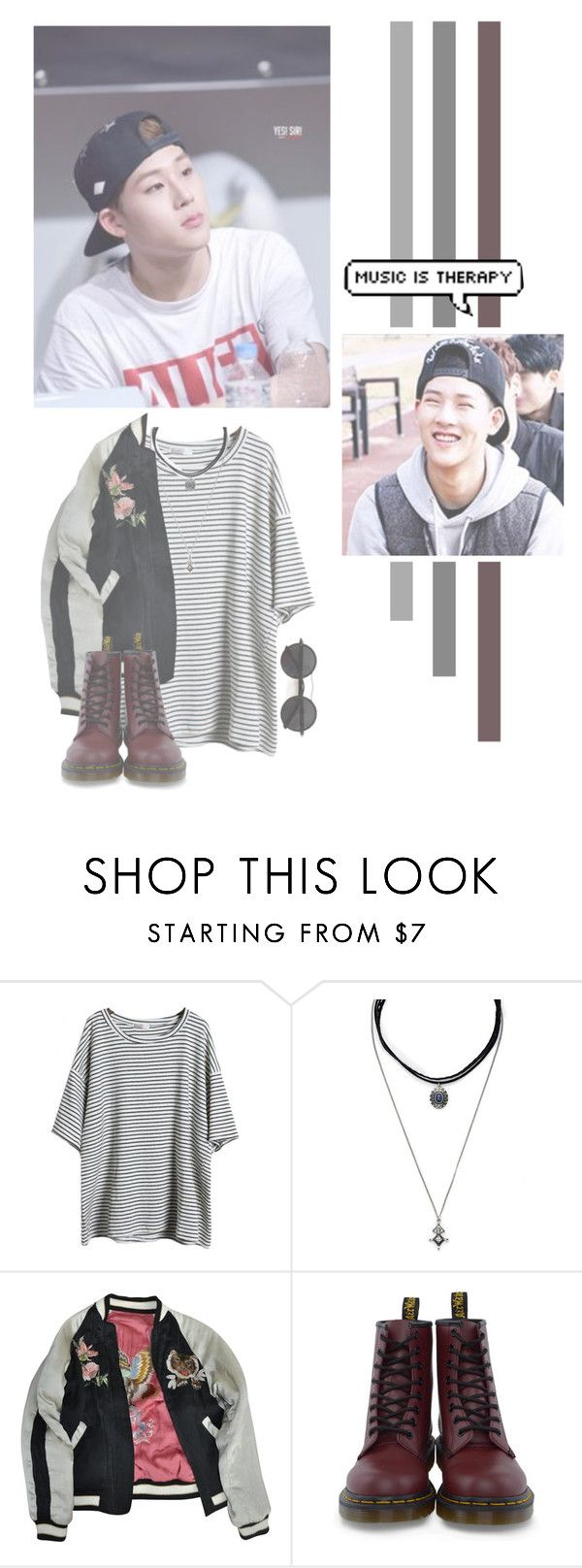 """Lee Jooheon"" by lazy-alien ❤ liked on Polyvore featuring Forever 21, Isabel Marant, Dr. Martens, Chicnova Fashion, Jooheon, monstax and LeeJooheon"