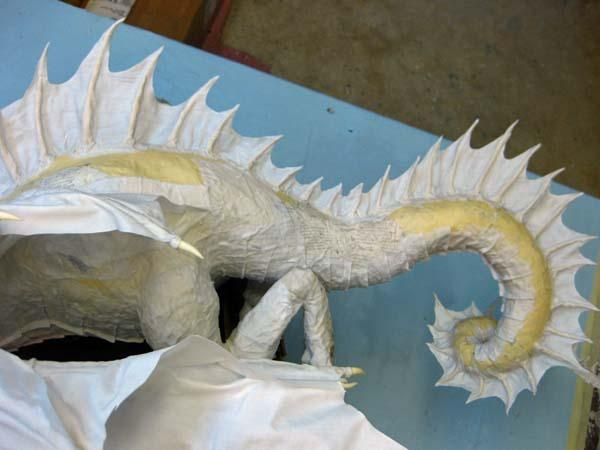 New Paper Mache Dragon Cool Spine Paper Mache And Dragons
