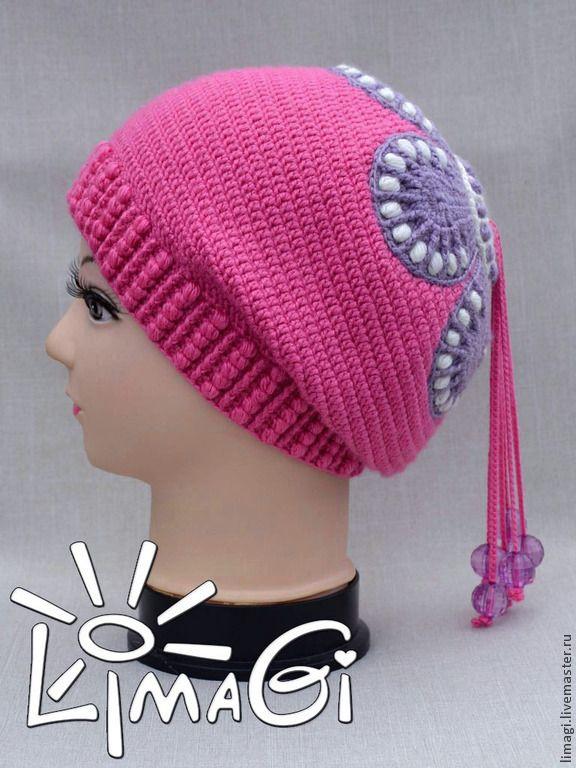 """Купить Шапочка """"Веснянка"""" - описание - шапка-чулок, шапочка для девочки, шапочка вязаная, шапочка крючком"""