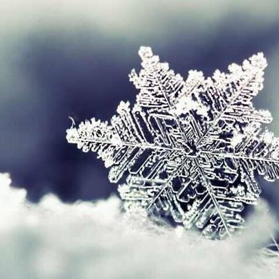 This is coming down from the sky. And did you know that every snow flake is different from the other one. There are no two snow flakes that are exactly identical. God's infinite beauty.