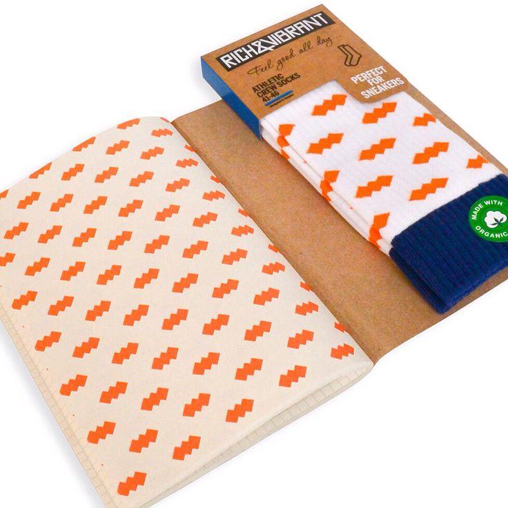 Rich&Vibrant defterlerini actiginizda ilk ve son sayfada corap desenlerimizden bazilarinin baskisini goreceksiniz. Bunlari corabiyla birlikte alip guzel bir hediye yapabilirsiniz. Aklinizda bulunsun.  // When you open our Rich&Vibrant notebooks, you will see some of our socks patterns printed on the first and last page. You can combine them with the matching socks and make a nice gift out of it. Just to let you know.