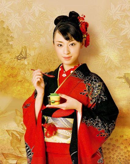 Chiaki Kuriyama / Japanese actress. Kimono.