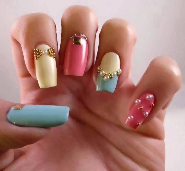 374 best nail art images on pinterest nail art art patterns and awesome attractive party nail art design pastel prinsesfo Choice Image