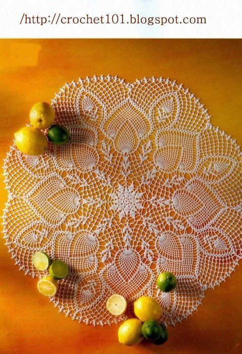 Crochet and arts: tablecloths