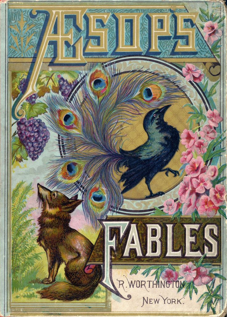 Aesops Fables book cover design