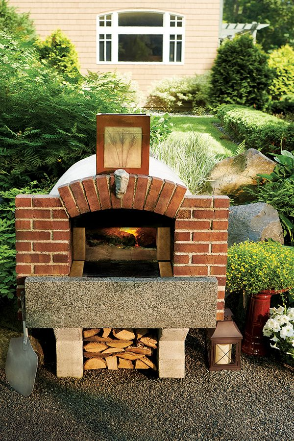 """Outdoor, brick pizza oven. Made of 4"""" thick fire brick ..."""