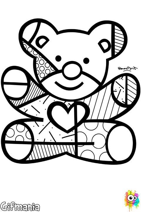 Britto Bear #britto #romerobritto