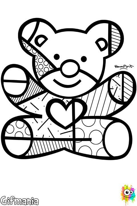Britto Bear #britto #romerobritto