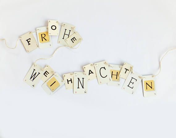 FROHE WEIHNACHTEN bunting Christmas Bunting Christmas