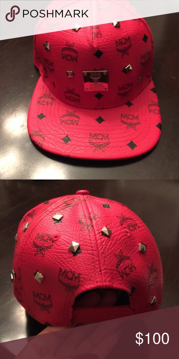 MCM hat Red MCM Hat. It's also in perfect condition. Only been worn once. MCM Accessories Hats