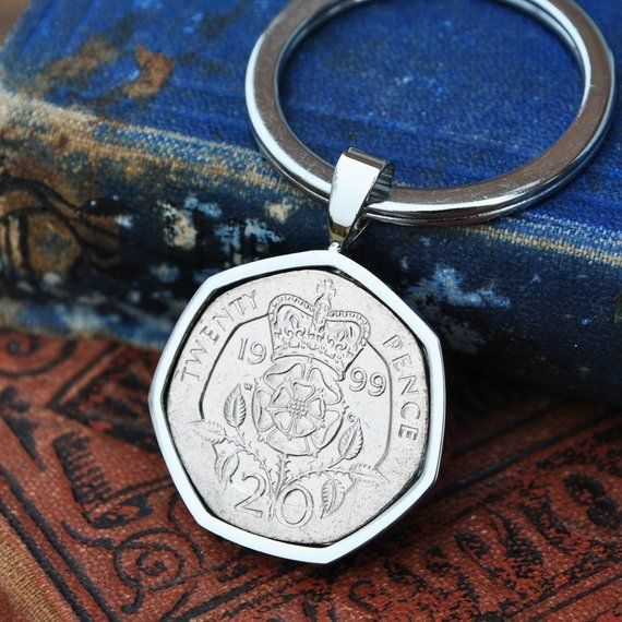 New 21st Birthday Gift 2000 Coin /& Key Charms On Keyring In Gift Bag