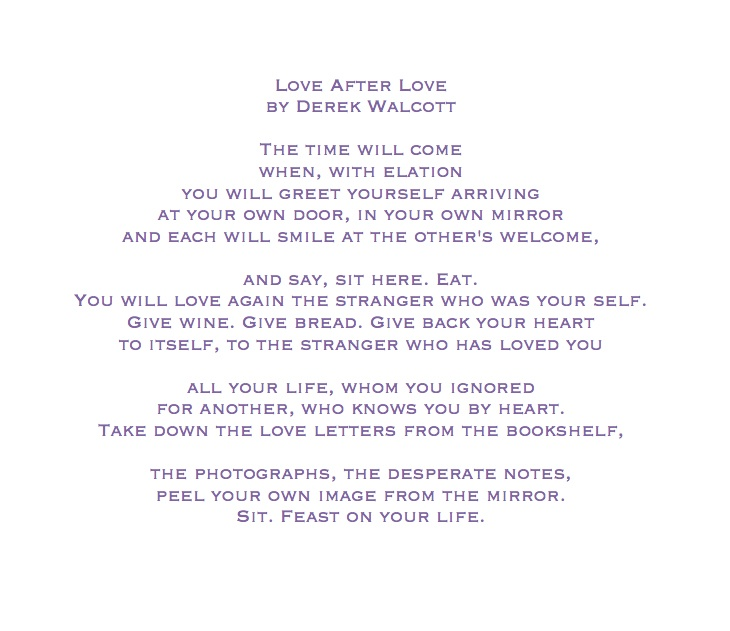 love after love poem by derek walcott poem hunter - 730×631